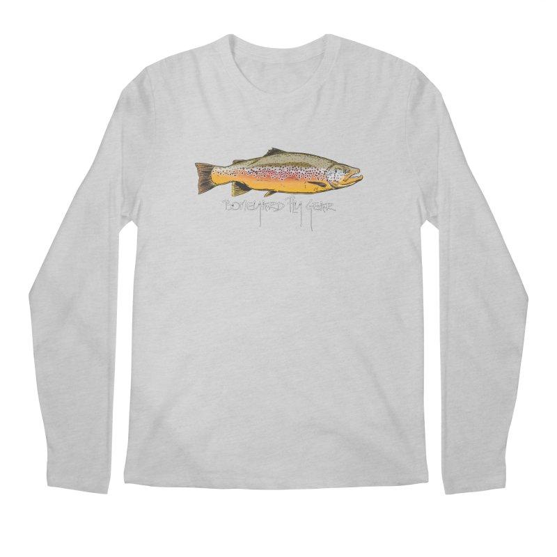 BYFG Brown Trout Men's Longsleeve T-Shirt by Boneyard Studio - Boneyard Fly Gear