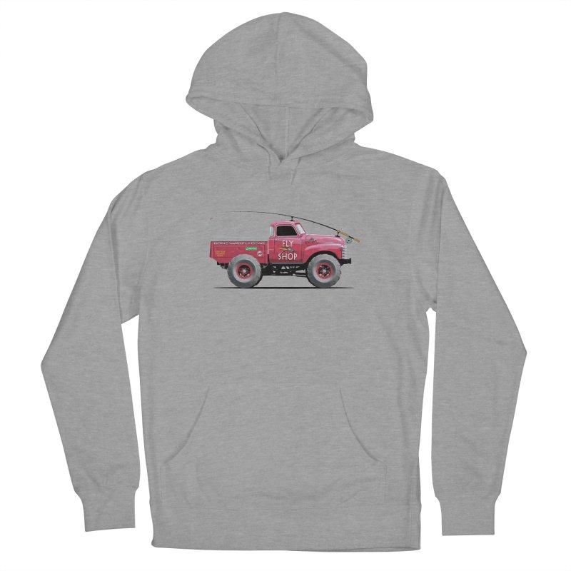 Red Truck Spey Men's Pullover Hoody by Boneyard Studio - Boneyard Fly Gear