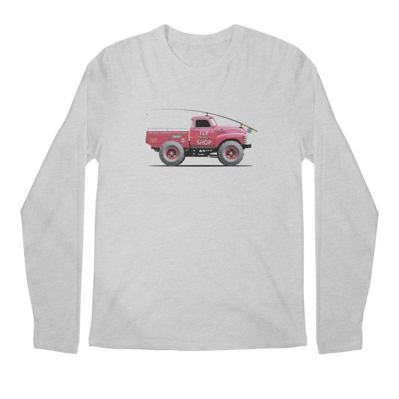 Red Truck Spey Men's Longsleeve T-Shirt by Boneyard Studio - Boneyard Fly Gear