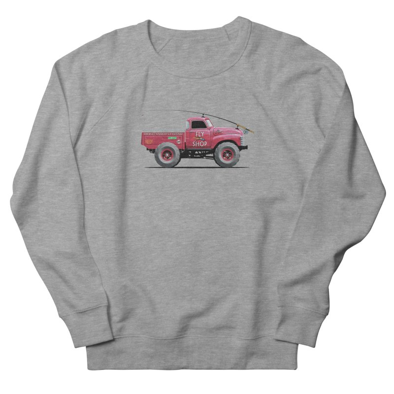Red Truck Spey Men's Sweatshirt by Boneyard Studio - Boneyard Fly Gear