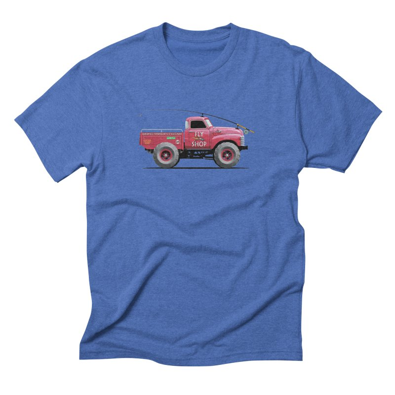 Red Truck Spey Men's Triblend T-shirt by Boneyard Studio - Boneyard Fly Gear