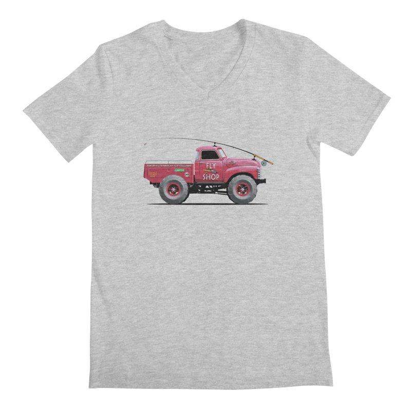 Red Truck Spey Men's V-Neck by Boneyard Studio - Boneyard Fly Gear