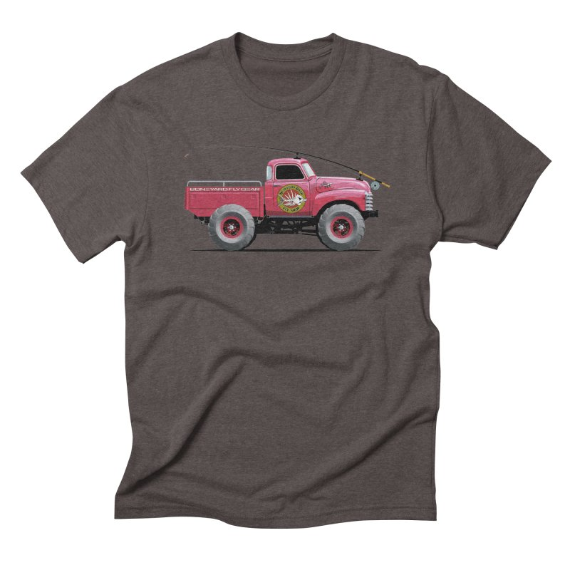Muskegon River Fly Shop Truck Men's Triblend T-shirt by Boneyard Studio - Boneyard Fly Gear