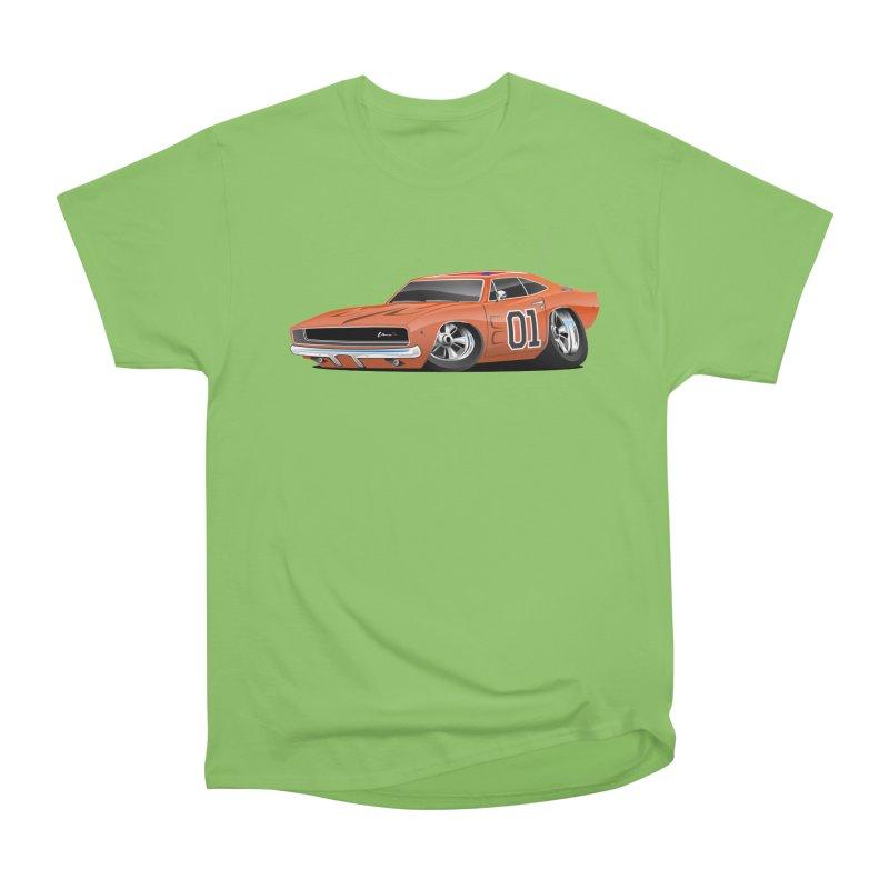 Charger Men's Heavyweight T-Shirt by Boneyard Studio - Boneyard Fly Gear