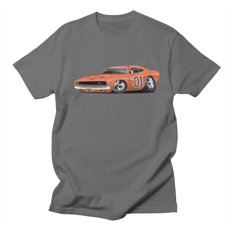 Charger in Men's T-Shirt Asphalt by Boneyard Studio - Boneyard Fly Gear