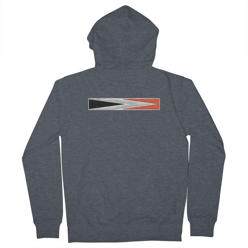 Charger Emblem Men's French Terry Zip-Up Hoody by Boneyard Studio - Boneyard Fly Gear