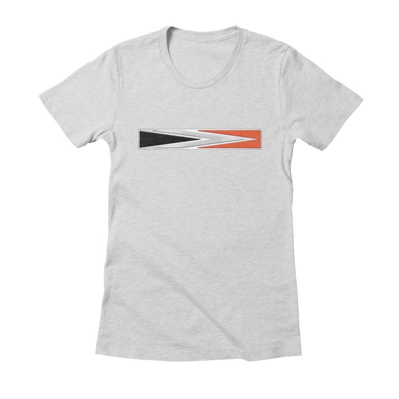 Charger Emblem Women's Fitted T-Shirt by Boneyard Studio - Boneyard Fly Gear
