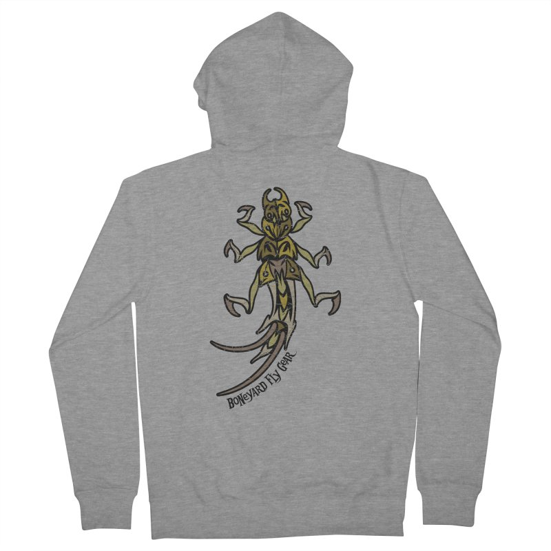 BYFG Stone Fly -Camo Edition in Men's Zip-Up Hoody Heather Graphite by Boneyard Studio - Boneyard Fly Gear