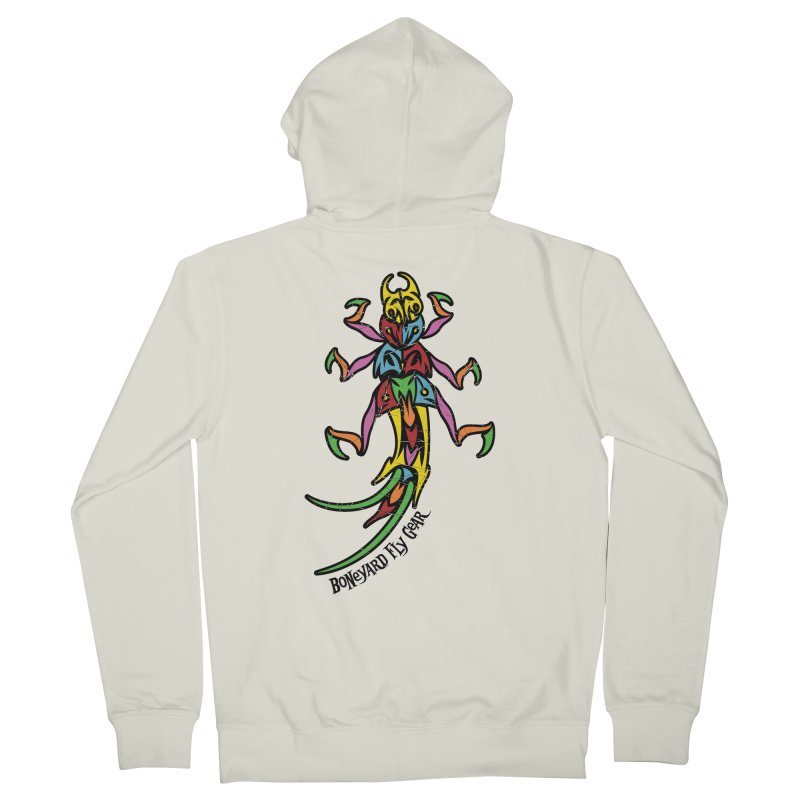 BYFG Stonefly - PoP ArT Women's French Terry Zip-Up Hoody by Boneyard Studio - Boneyard Fly Gear