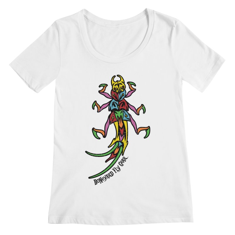 BYFG Stonefly - PoP ArT Women's Regular Scoop Neck by Boneyard Studio - Boneyard Fly Gear