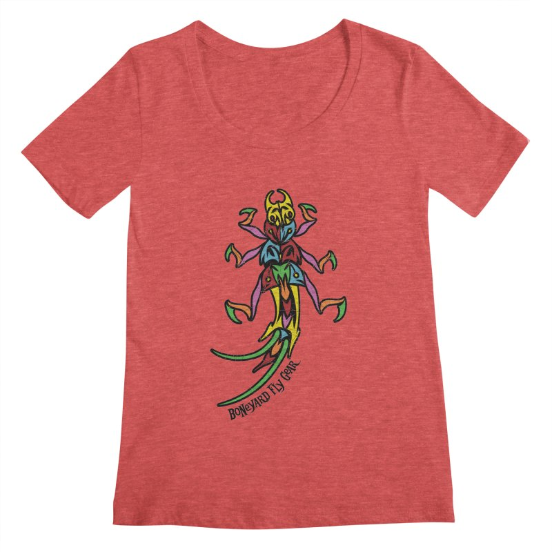 BYFG Stonefly - PoP ArT Women's Scoopneck by Boneyard Studio - Boneyard Fly Gear