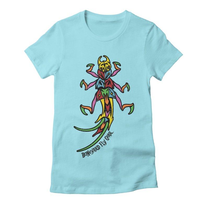 BYFG Stonefly - PoP ArT Women's Fitted T-Shirt by Boneyard Studio - Boneyard Fly Gear