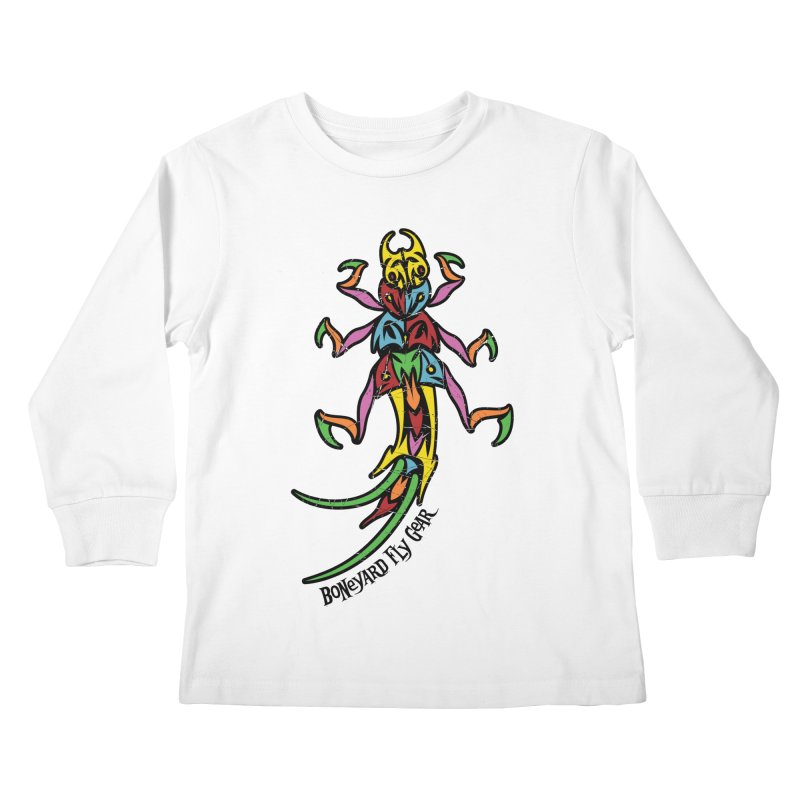 BYFG Stonefly - PoP ArT Kids Longsleeve T-Shirt by Boneyard Studio - Boneyard Fly Gear