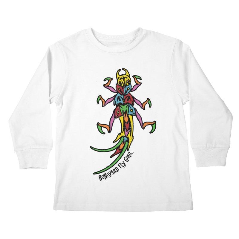 BYFG Stonefly - PoP ArT Kids Longsleeve T-Shirt by Boneyard Studio - Boneyard Fly Gear