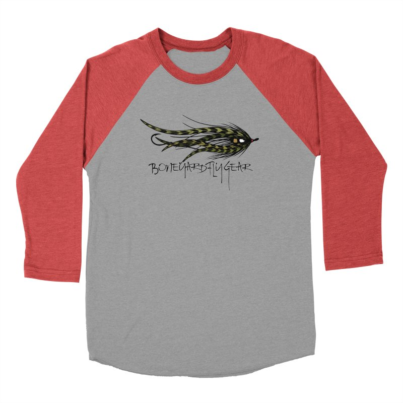 Spey Fly Men's Baseball Triblend T-Shirt by Boneyard Studio - Boneyard Fly Gear