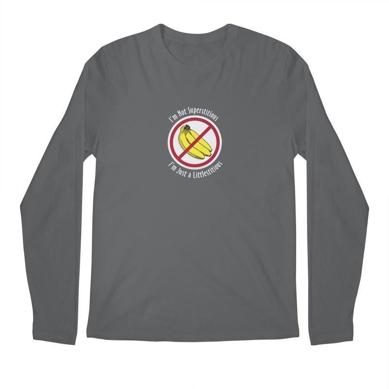 I'm Not Superstitious Men's Longsleeve T-Shirt by Boneyard Studio - Boneyard Fly Gear