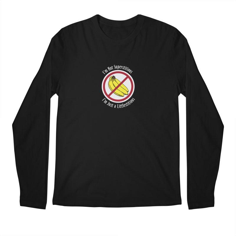 I'm Not Superstitious Men's Regular Longsleeve T-Shirt by Boneyard Studio - Boneyard Fly Gear