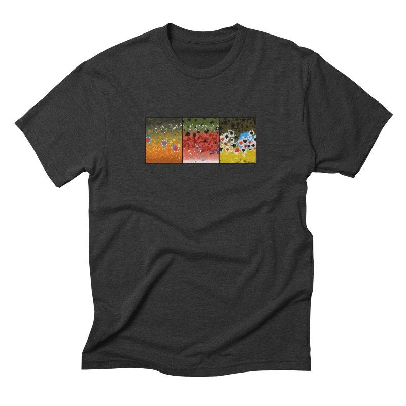 We Three Trout in Men's Triblend T-Shirt Heather Onyx by Boneyard Studio - Boneyard Fly Gear