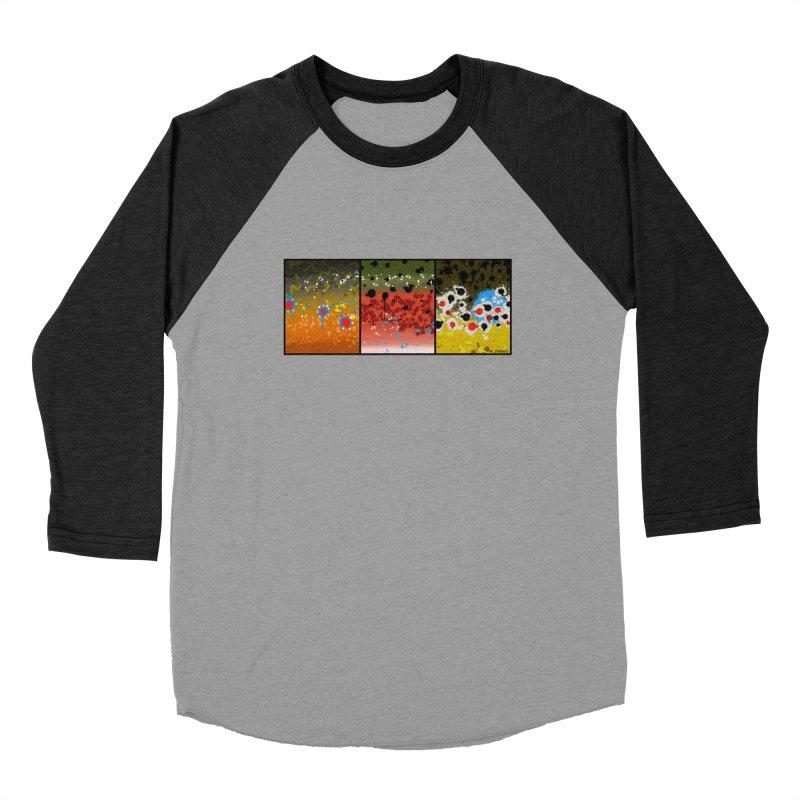 We Three Trout Men's Baseball Triblend T-Shirt by Boneyard Studio - Boneyard Fly Gear