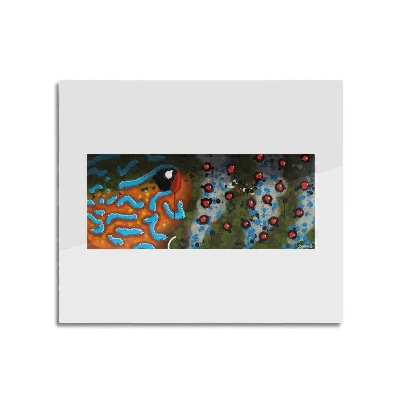 Graffiti Pumpkinseed Sunfish - Fine Art Print Home Mounted Aluminum Print by Boneyard Studio - Boneyard Fly Gear