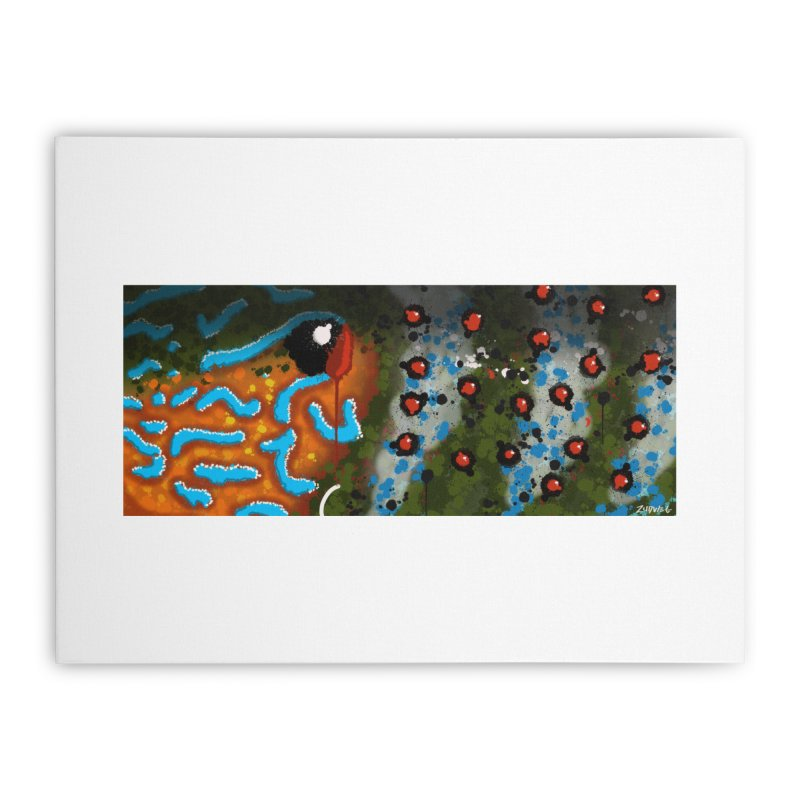 Graffiti Pumpkinseed Sunfish - Fine Art Print Home Stretched Canvas by Boneyard Studio - Boneyard Fly Gear