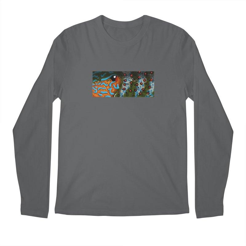Graffiti Pumpkinseed Sunfish Men's Longsleeve T-Shirt by Boneyard Studio - Boneyard Fly Gear