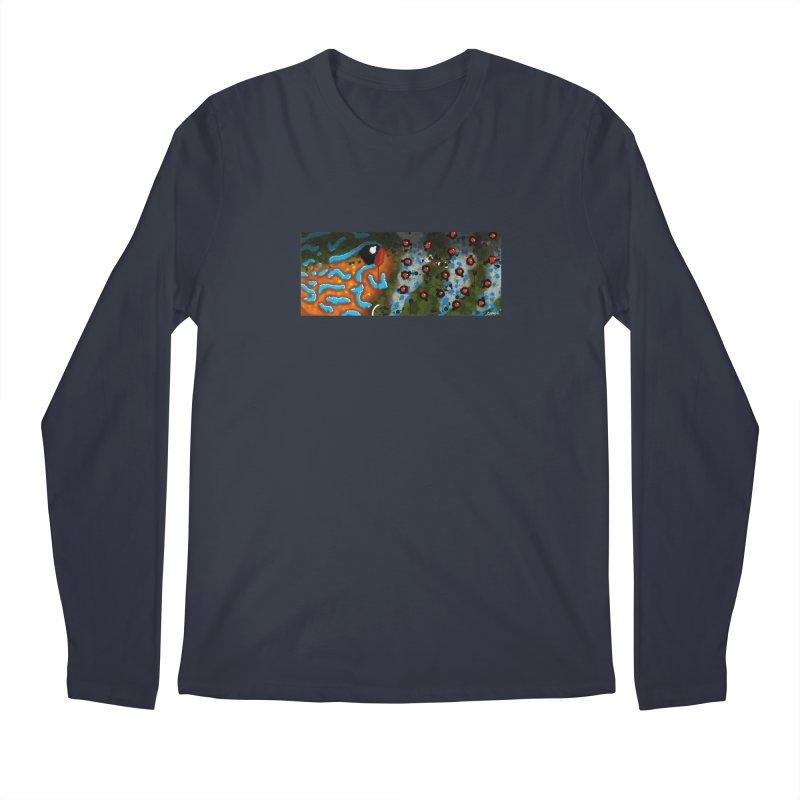 Graffiti Pumpkinseed Sunfish Men's Regular Longsleeve T-Shirt by Boneyard Studio - Boneyard Fly Gear