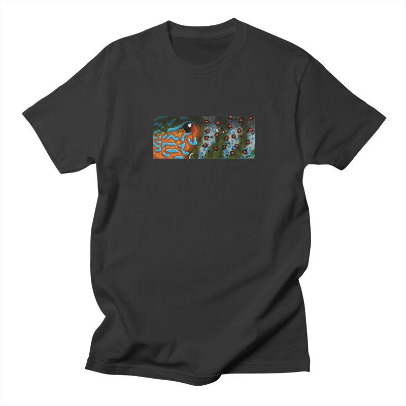 Graffiti Pumpkinseed Sunfish Men's T-Shirt by Boneyard Studio - Boneyard Fly Gear
