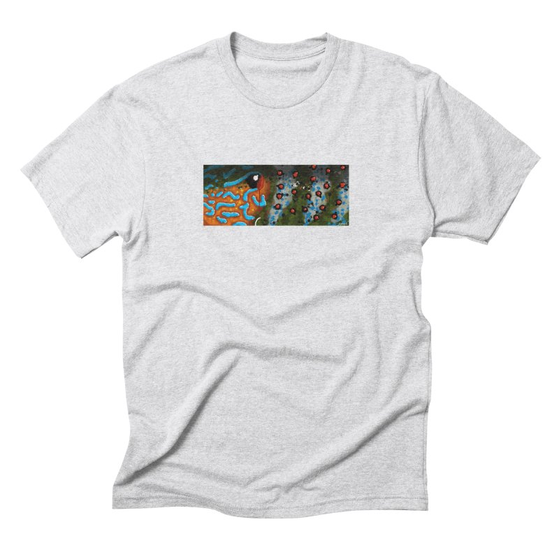 Graffiti Pumpkinseed Sunfish Men's Triblend T-Shirt by Boneyard Studio - Boneyard Fly Gear