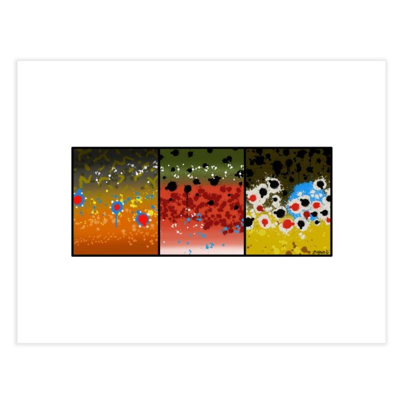 We Three Trout - Fine Art Print Home Fine Art Print by Boneyard Studio - Boneyard Fly Gear