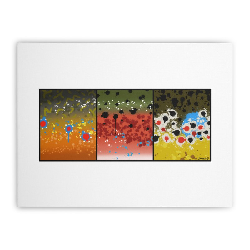 We Three Trout - Fine Art Print Home Stretched Canvas by Boneyard Studio - Boneyard Fly Gear
