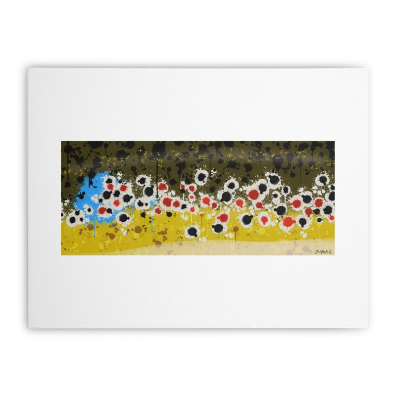 Graffiti Brown Trout - Fine Art Print Home Stretched Canvas by Boneyard Studio - Boneyard Fly Gear