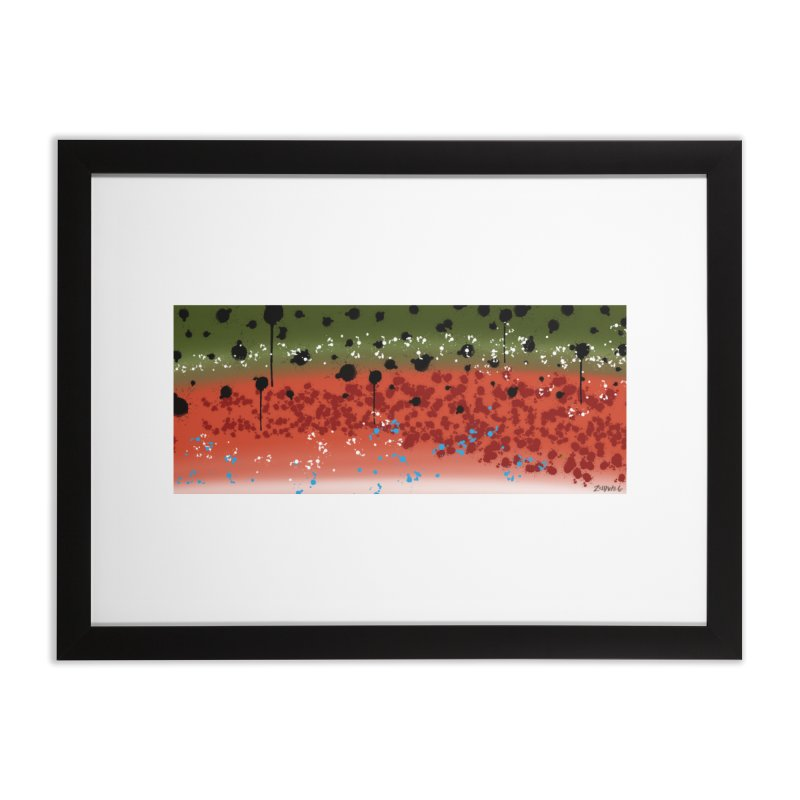 Rainbow Trout Fine Art Print in Framed Fine Art Print Black by Boneyard Studio - Boneyard Fly Gear