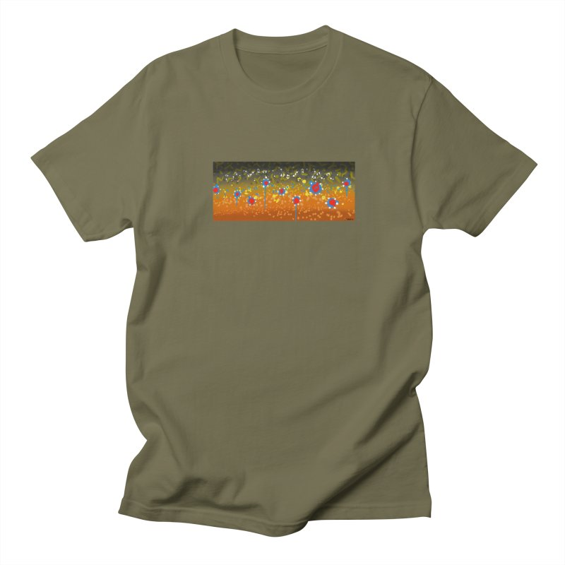 Brook Trout in Men's T-Shirt Olive by Boneyard Studio - Boneyard Fly Gear