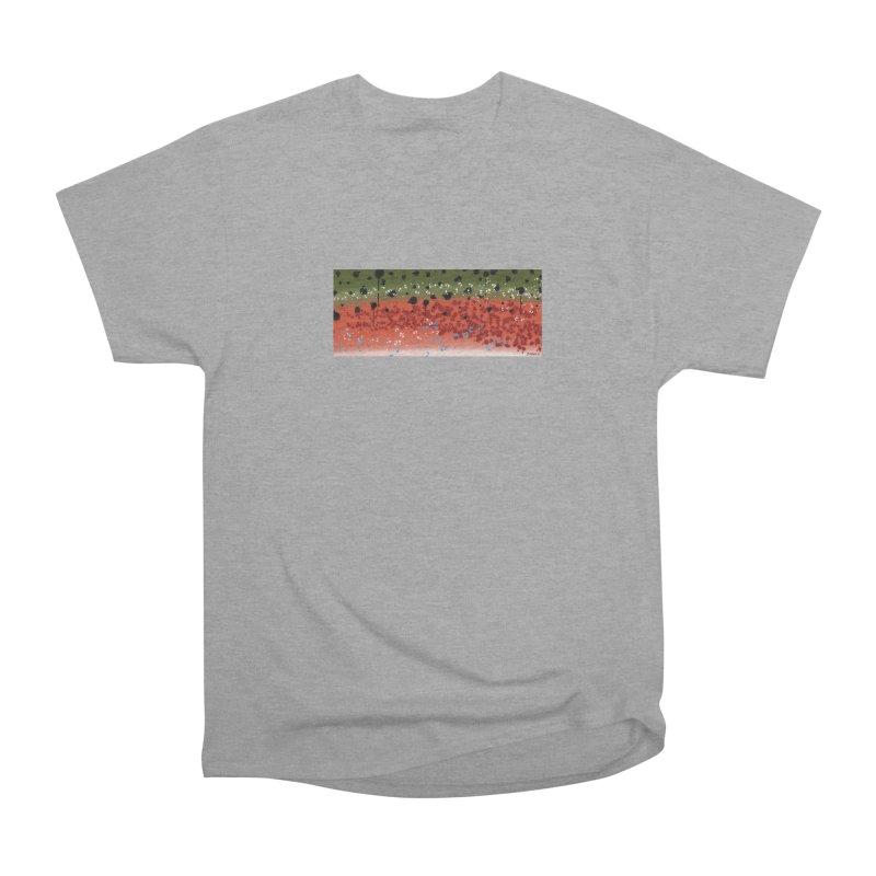 Graffiti Rainbow Trout Men's Heavyweight T-Shirt by Boneyard Studio - Boneyard Fly Gear