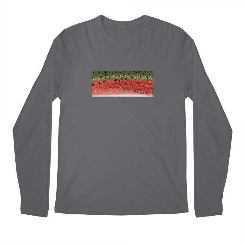 Graffiti Rainbow Trout Men's Regular Longsleeve T-Shirt by Boneyard Studio - Boneyard Fly Gear