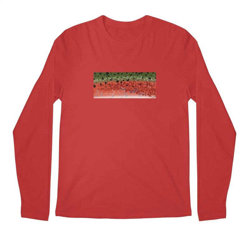 Graffiti Rainbow Trout Men's Longsleeve T-Shirt by Boneyard Studio - Boneyard Fly Gear