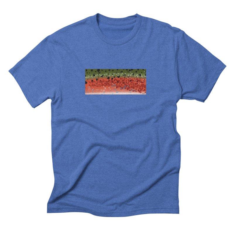 Graffiti Rainbow Trout Men's Triblend T-Shirt by Boneyard Studio - Boneyard Fly Gear