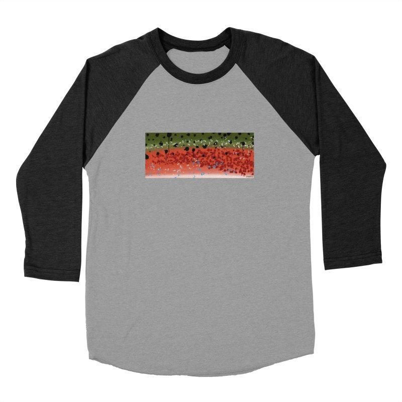 Rainbow Trout Men's Baseball Triblend T-Shirt by Boneyard Studio - Boneyard Fly Gear