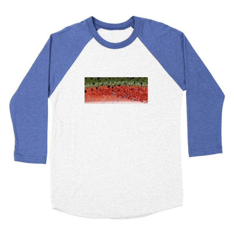 Graffiti Rainbow Trout Men's Baseball Triblend T-Shirt by Boneyard Studio - Boneyard Fly Gear