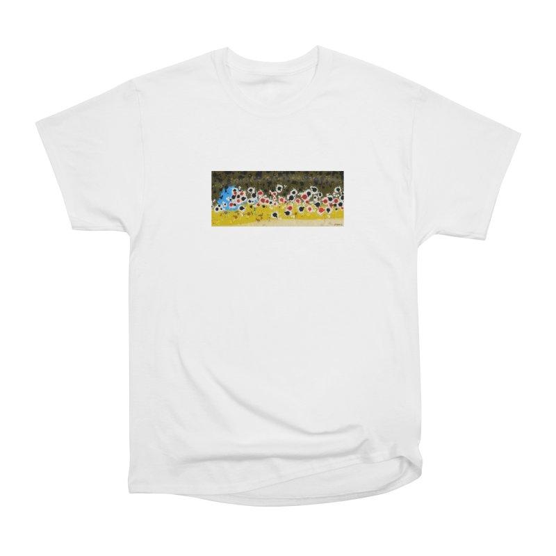 Graffiti Brown Trout Men's Heavyweight T-Shirt by Boneyard Studio - Boneyard Fly Gear