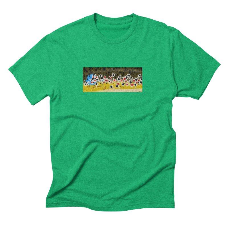 Graffiti Brown Trout Men's Triblend T-Shirt by Boneyard Studio - Boneyard Fly Gear