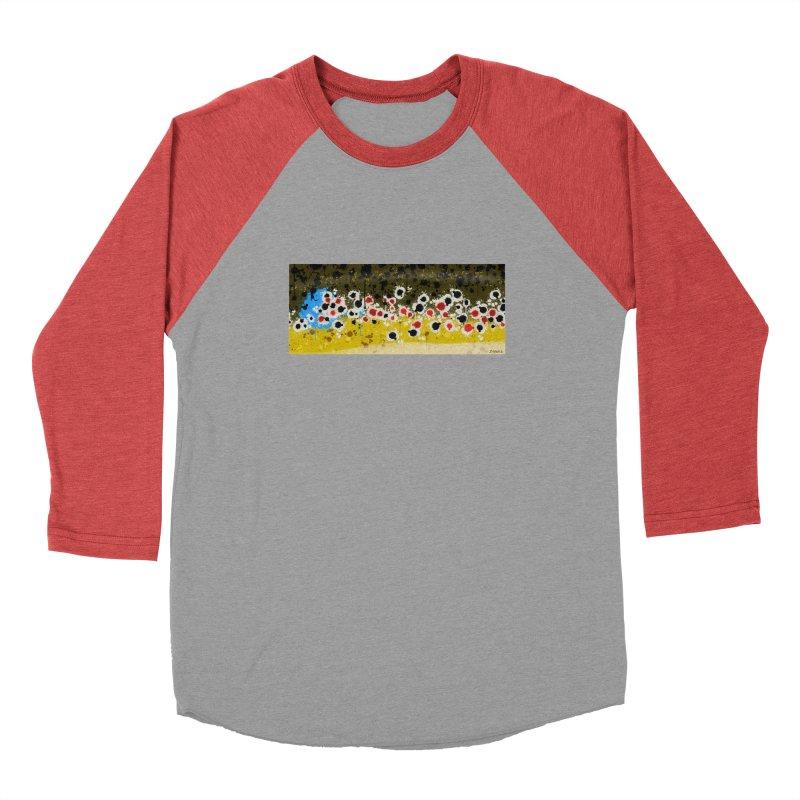 Graffiti Brown Trout Men's Baseball Triblend Longsleeve T-Shirt by Boneyard Studio - Boneyard Fly Gear