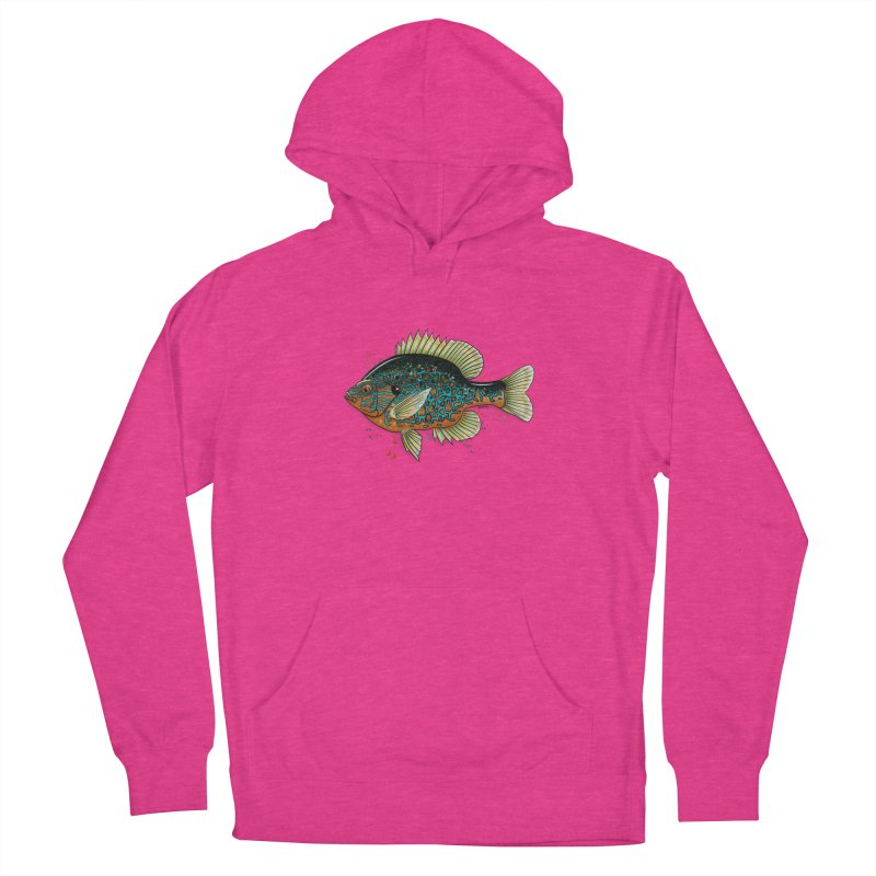 Pumpkinseed Women's French Terry Pullover Hoody by Boneyard Studio - Boneyard Fly Gear
