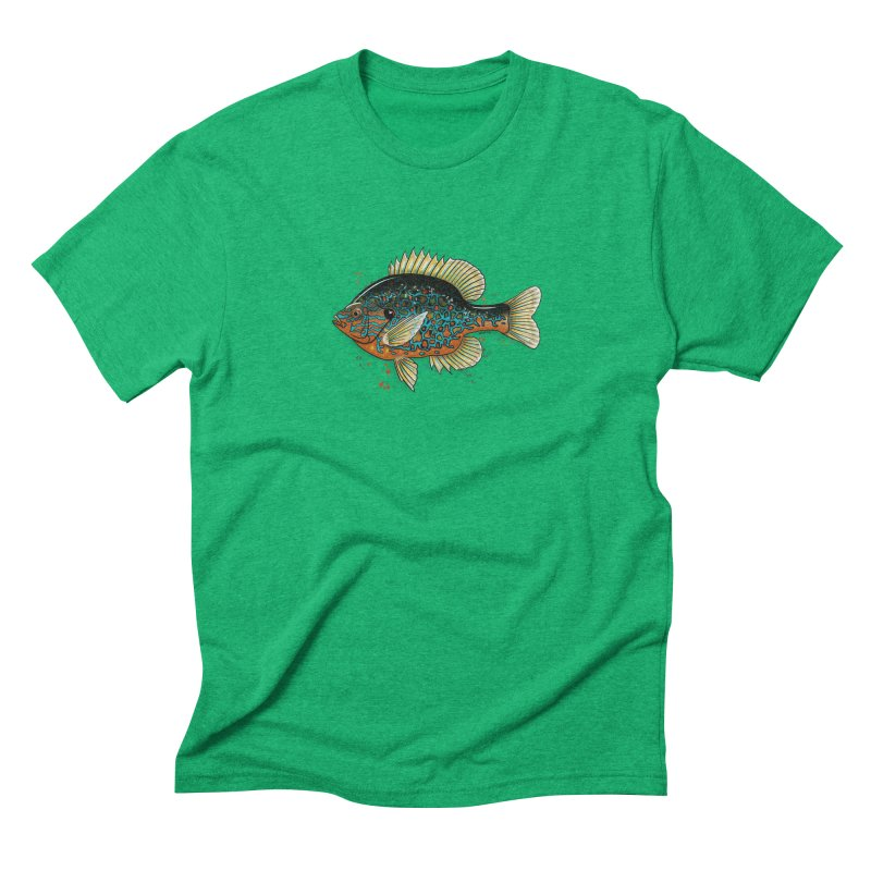 Pumpkinseed Men's Triblend T-Shirt by Boneyard Studio - Boneyard Fly Gear