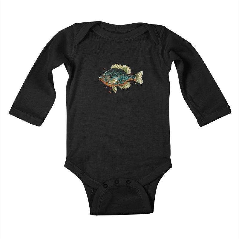 Pumpkinseed Kids Baby Longsleeve Bodysuit by Boneyard Studio - Boneyard Fly Gear