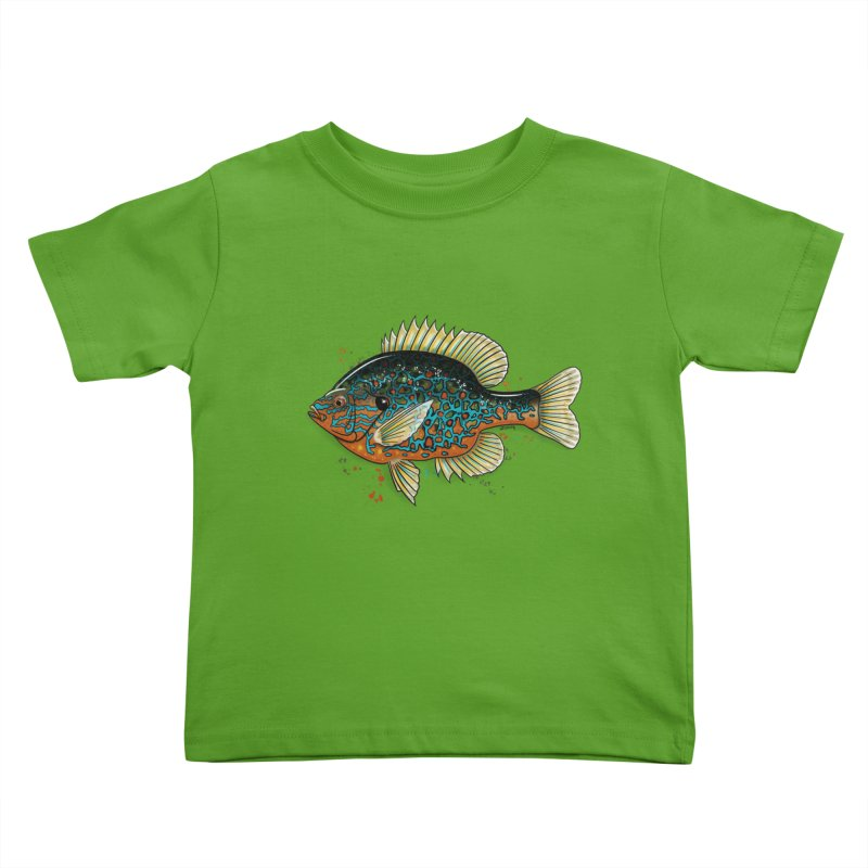 Pumpkinseed Kids Toddler T-Shirt by Boneyard Studio - Boneyard Fly Gear