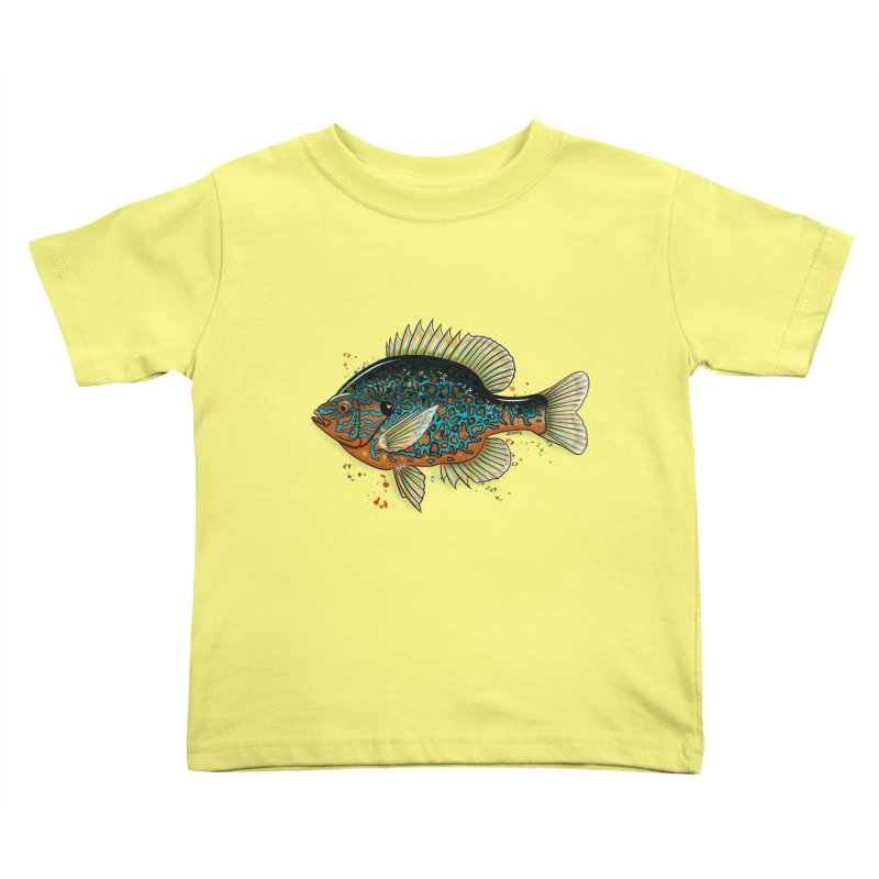 Pumpkinseed Kids Toddler T-Shirt by Boneyard Studio - Boneyard Fly Gear