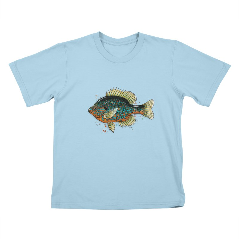 Pumpkinseed Kids T-Shirt by Boneyard Studio - Boneyard Fly Gear