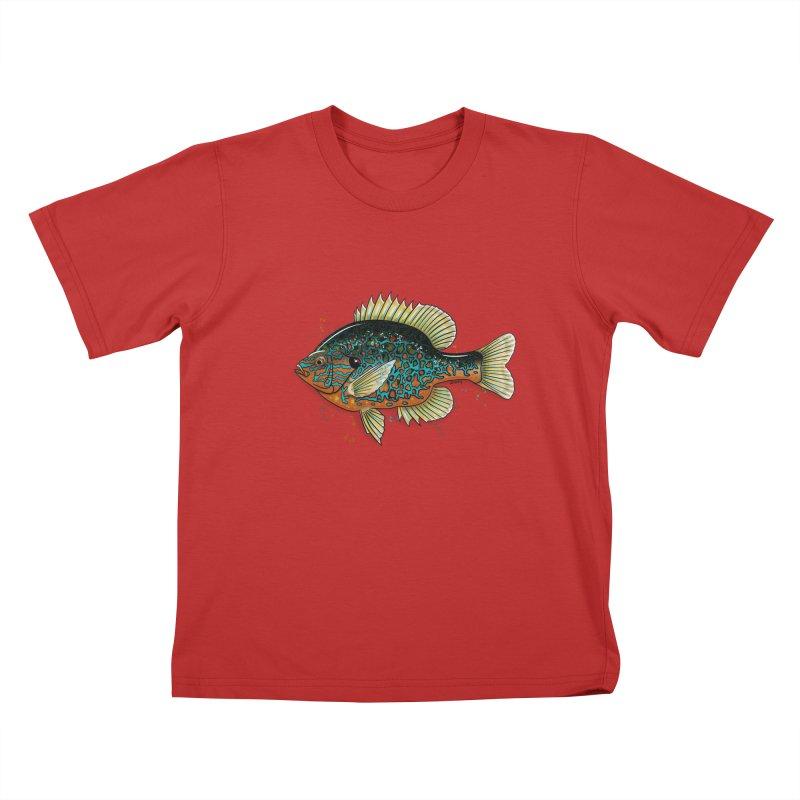 Pumpkinseed Kids T-Shirt by Boneyard Studio - Boneyard Fly Gear